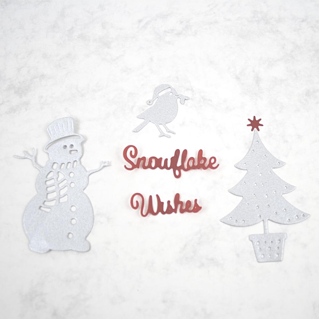 Christmas Die cut shapes