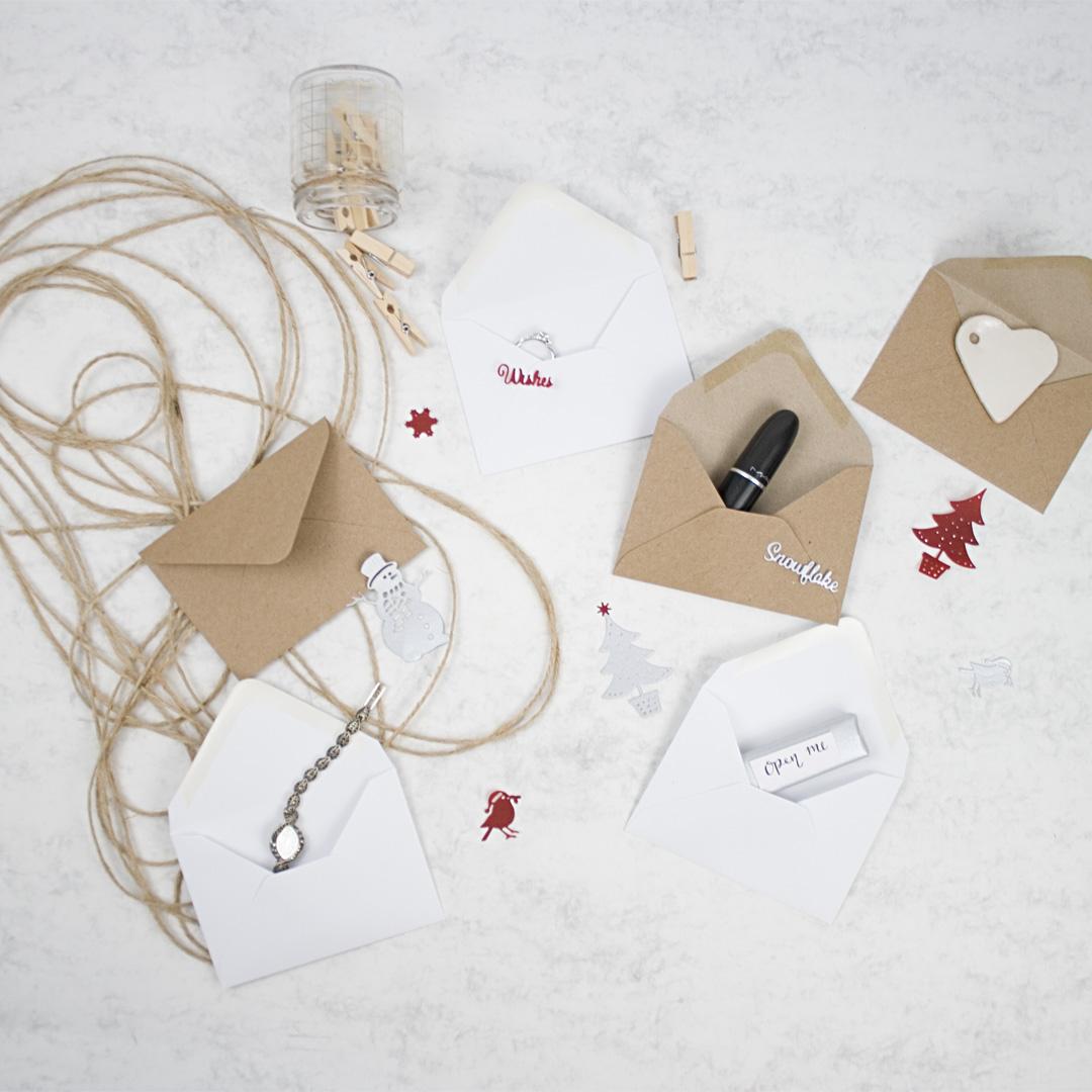 envelope Advent Calendar gifts