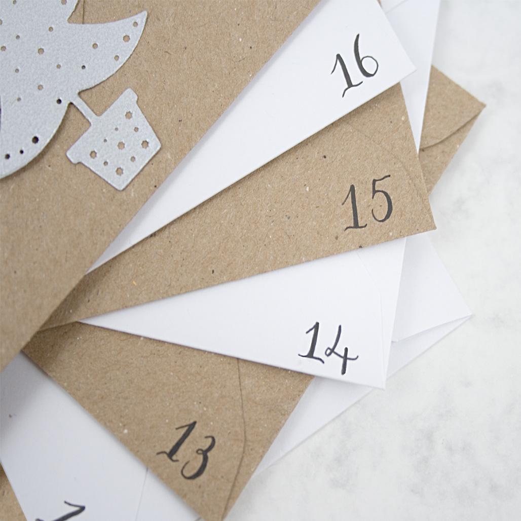 envelope advent close up