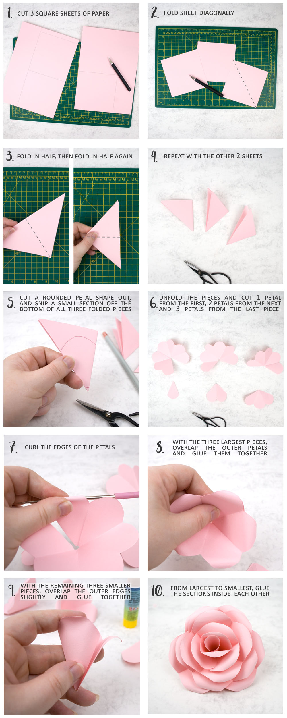 How to Fold a Lifelike Origami Rose for Valentine's Day « Origami ... | 2500x1000