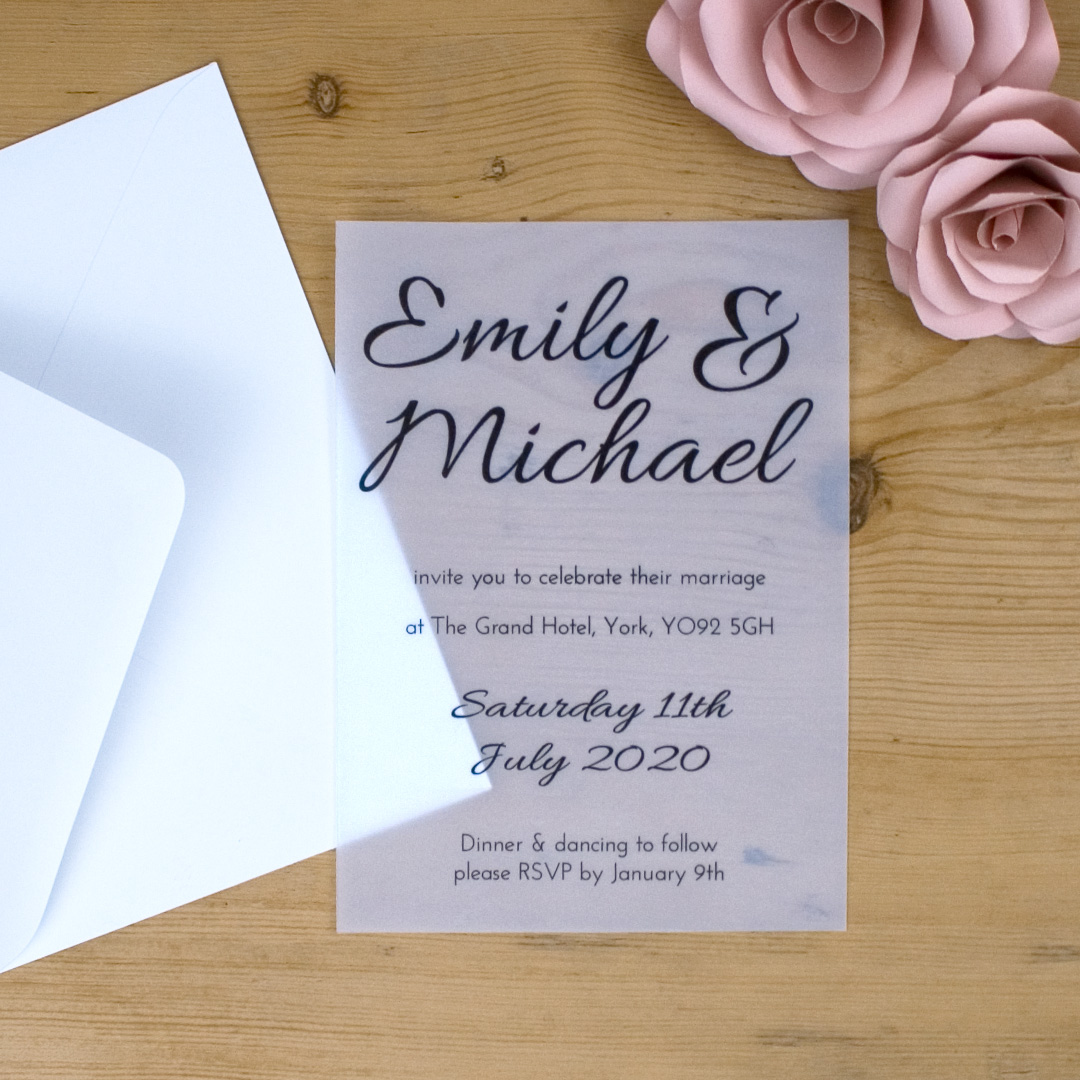 4 Ways To Use Vellum Paper In Your Wedding Stationery The Paperbox